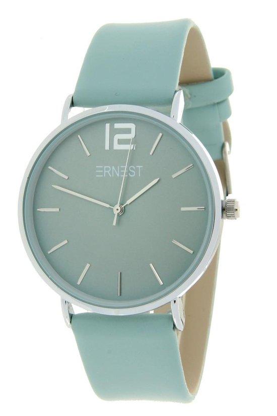 Ernest Horloge Cindy – large – silver pastelgroen