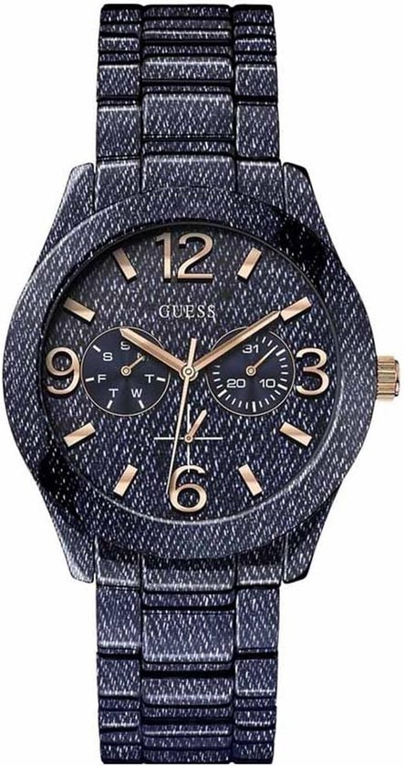 GUESS Ladies Sport W0288L1 – Horloge – 39 mm – Staal – Blauw
