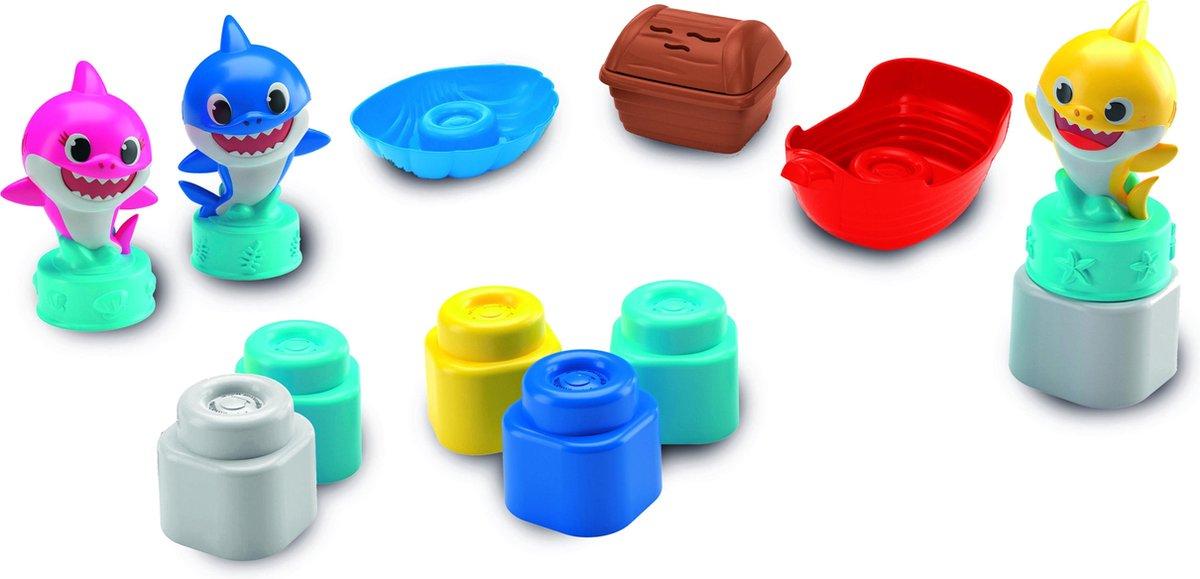 Baby Clementoni - Baby Shark Clemmy Medium Speelset, zachte blokken voor kinderen