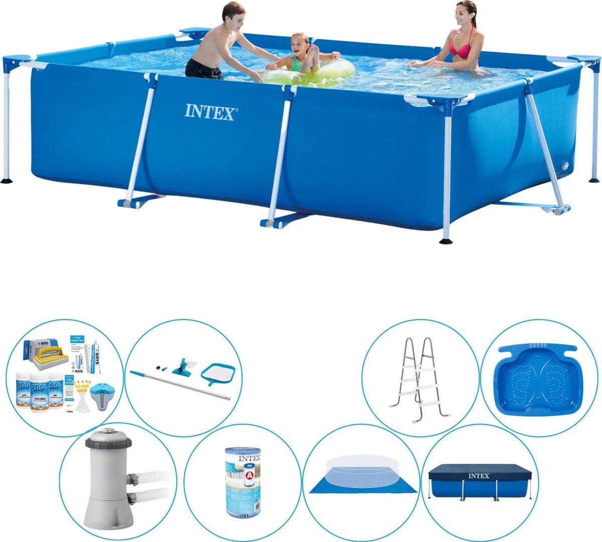 Intex Rechthoekig Zwembad - 300 x 200 x 75 cm - Inclusief toebehoren