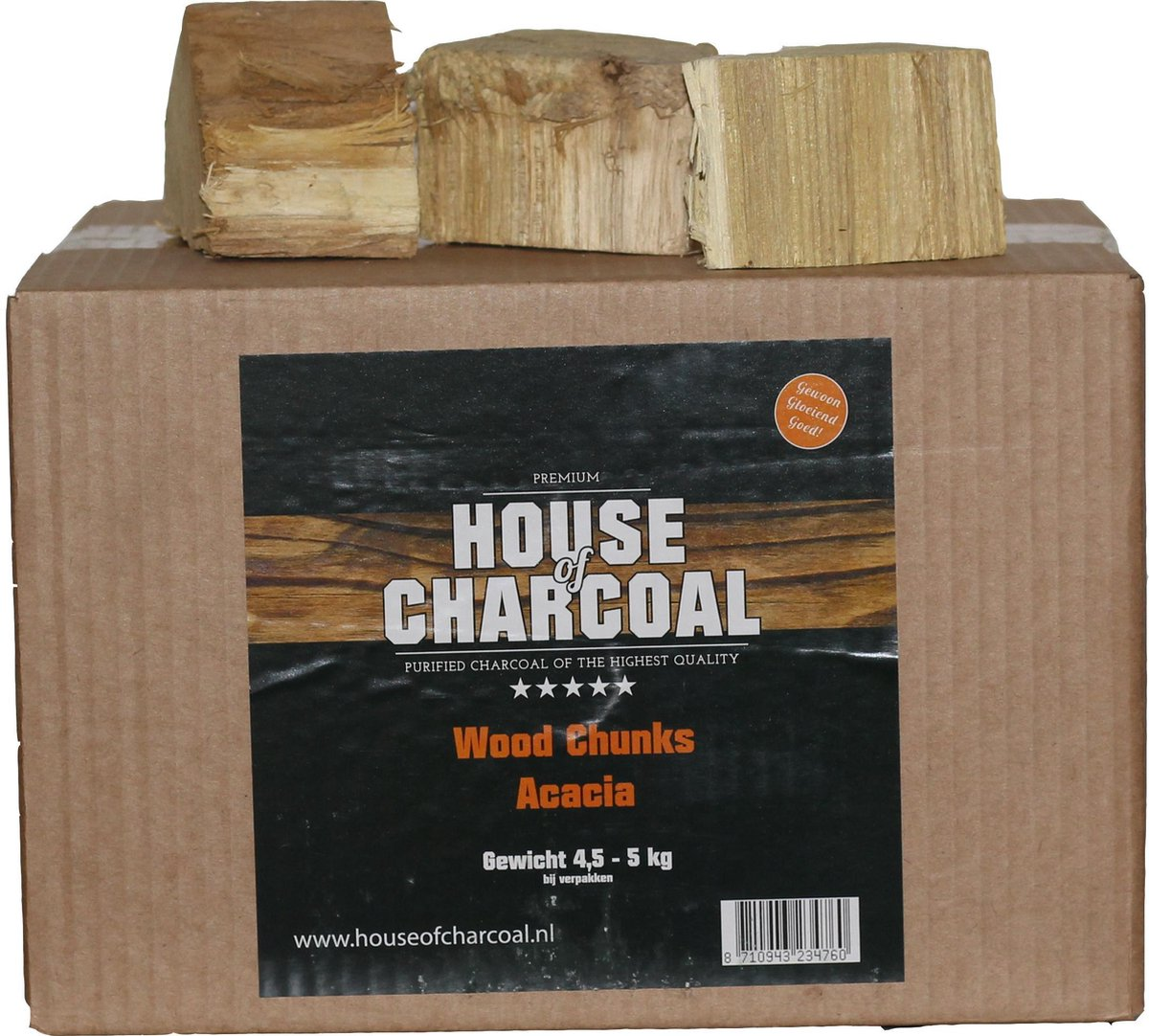 Rookhout Chunks Acacia - Smoking wood Acacia Chunks - 5 kg