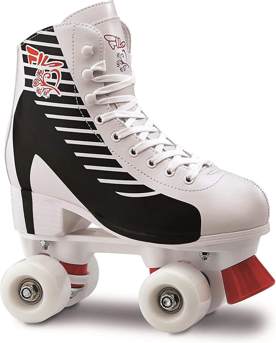 Fila Rolschaatsen - Tatoo- White - Red - Black - Maat 35