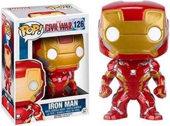 POP Iron Man - Funko pop Ironman - Marvel Avengers - Vinyl -  Actiefiguur - Collectors Item - 126