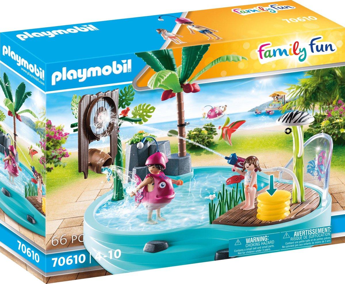 PLAYMOBIL Family Fun Leuk zwembad met watersplash - 70610