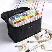 Stiften voor volwassenen - stiften kinderen - brush pennen - 80 stuks - markers - twinmarkers - alcohol stiften - aqua markers