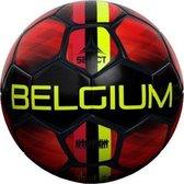 Select Belgium Voetbal - Zwart / Geel / Rood | Maat: 5
