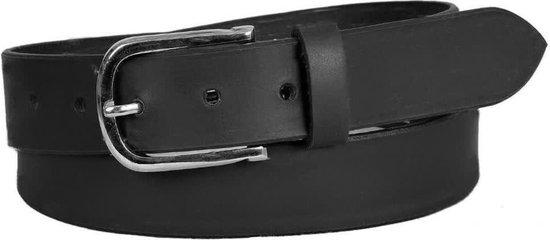 Dielay – Luxe Riem – Echt Leer / Leder – Totale Lengte 115 cm – Zwart