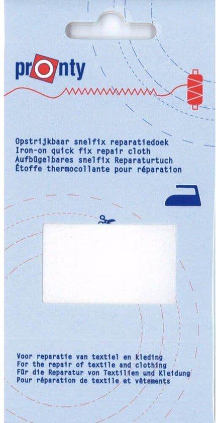 Reparatiedoek opstrijkbaar wit 11 x 25 cm