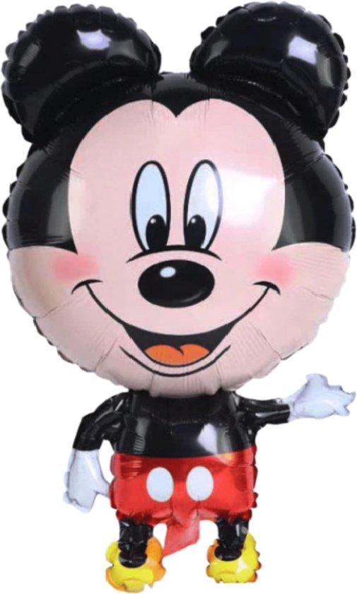 Mickey Mouse Ballon - 85 x 47 cm - Inclusief Opblaasrietje - Ballonnen - Ballonnen Verjaardag - Folieballon - Disney - Mickey Mouse Speelgoed - Ballon Groot