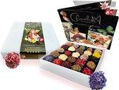 ChocolaDNA handgemaakte Chocolade bonbons truffels in luxe topcadeau-verpakking - 25 stuks relatiegeschenk cadeaupakket kerst verjaardag