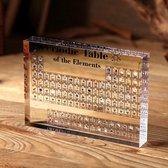 Periodiek systeem der elementen - Acrylic - versie met afbeelding - 11,4x15cm
