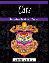 Cats Coloring Book for Teens