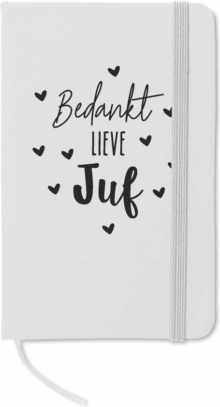 notitieboekje 'Bedankt lieve juf' - jufkado - juf bedankje - juf kadootje