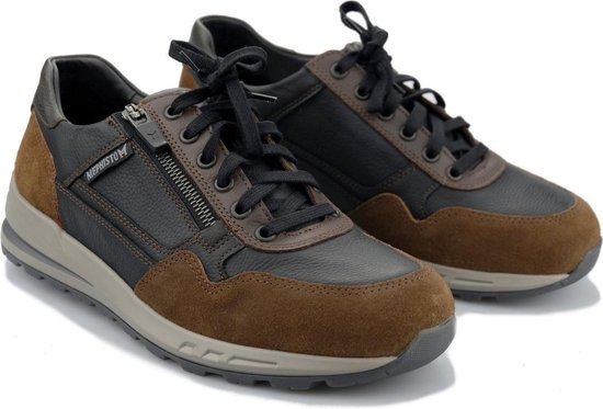 Mephisto BRADLEY heren sneakers - zwart combi - maat 42