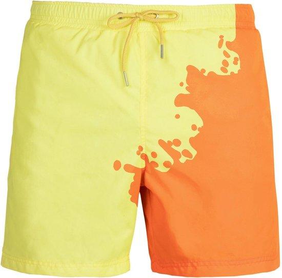 Seaons Oranje - Geel   Kleurveranderende zwembroek