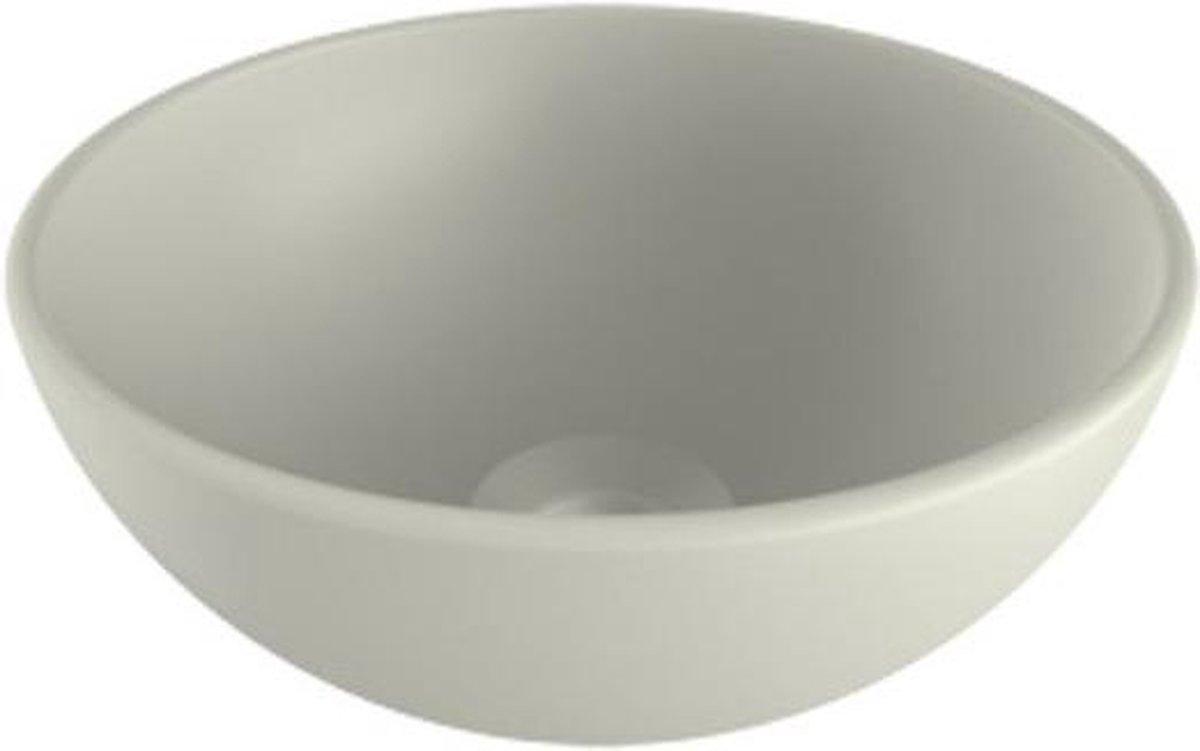 Plieger Mini Round waskom Ø26x12cm mat wit