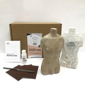 SamStone Doe-het-zelf pakket speksteen torso man (groot)