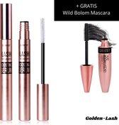 Golden-Lash™ - Wimperserum 2-delig - Wimpergroei Serum Inclusief Wild Bolom Mascara - Best Eyelash Serum - Snelste serum Vollere, krullende + Sterkere wimpers - Lash Lift - 3 in 1 Eyebrow serum - Wenkbrauw Serum Groei