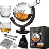 MikaMax Whiskey Globe Decanteerset - 2 Glazen - 9 Whiskey Stones - 900 ML