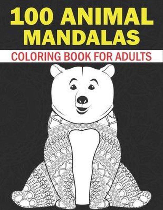 bol.com   Animal Mandalas Coloring Book For Adults: 50 ...