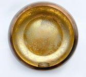 Ronde kaarshouder - Metaal - Goud - Muurbevestiging - 25 x 10 cm