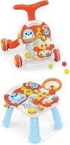 2-in-1 Loopwagen / Speeltafel Dani - Educatief en speels - Geschikt voor baby's en peuters - Met licht en muziek