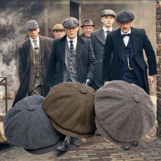 Peaky Blinders Cap - Flat Caps Heren - Heren Pet - Baret Heren - Heren Kleding - Tommy Shelby - Cadeau Man - Donker Grijs - One Size