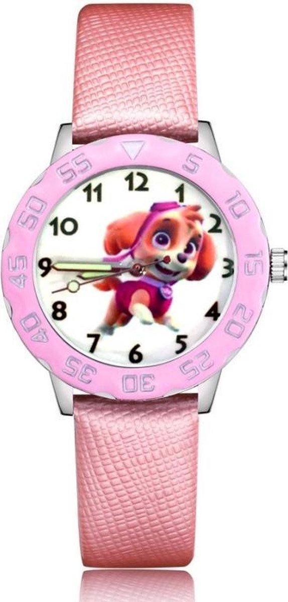 Paw Patrol horloge (Skye) met glow in the dark wijzers deluxe