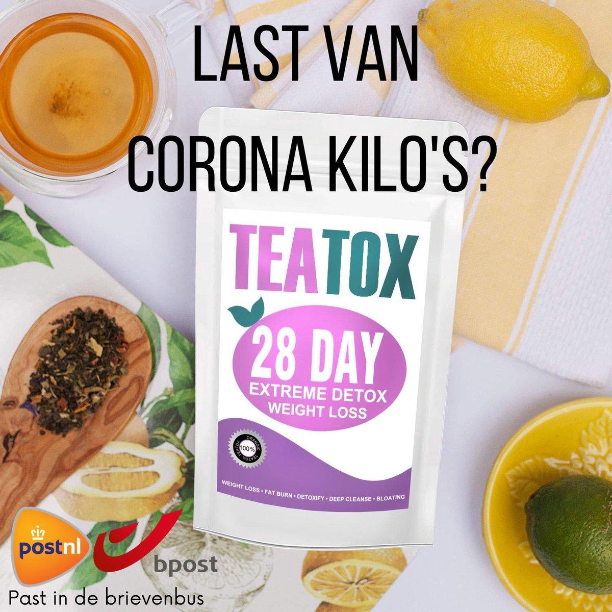 TeaTox  28 dagen afvallen detox - Thee - Detox + E-book 10 recepten
