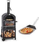 MaxxGarden Pizza oven - Smoker barbecue op hout, houtskool of pellets - 45 x 65 x 158cm
