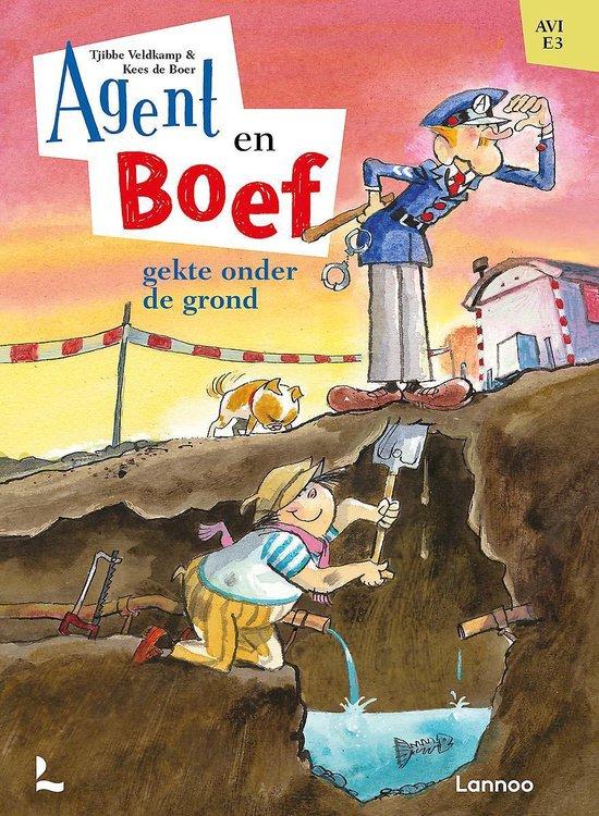 Boek cover Agent & Boef  -   Gekte onder de grond van Tjibbe Veldkamp (Hardcover)