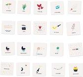 ALL YOU CAN SEND - Ultieme mix van 20 verschillende luxe wenskaarten inclusief envelop - gevouwen - verjaardag - liefde - zomaar - voor jou - feest - uitnodiging