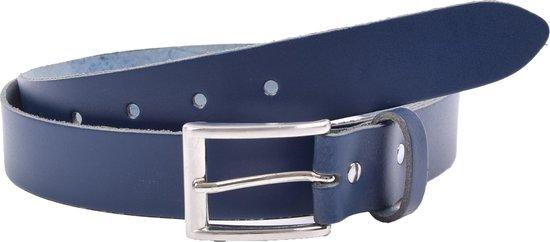 Riem – Riemen – Navy Blue – 3 cm – Unisex – 100% Leren – Leder – Riem Maat 105