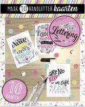 Easy Hand Lettering 10 kaarten boek Quotes - Grijs   Wit