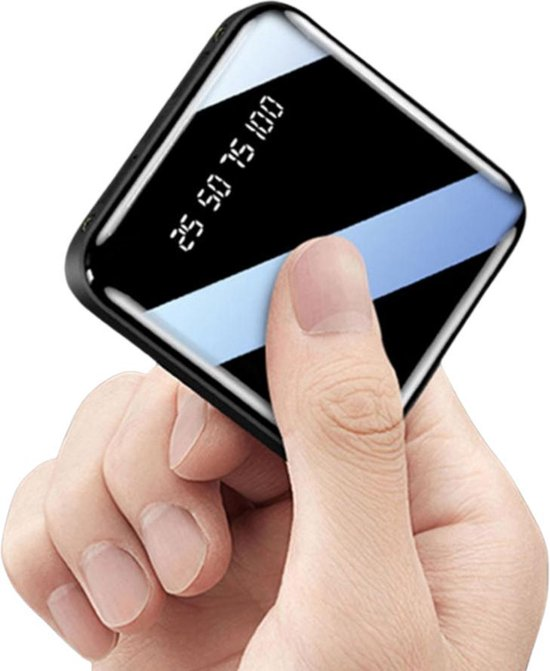 Tayrix 20000 mAH Powerbank - Zwart -  Mobiele oplader - Externe oplaadbare batterij - Mini powerbank - Snelle oplader - Micro usb & C input - 2 led lampjes - geschikt voor Iphone en Samsung