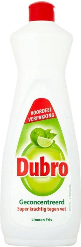 DUBRO Afwasmiddel Limoen Fris - 12 x 900ml