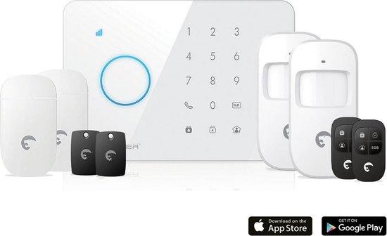 Draadloos alarmsysteem eTIGER S3b Sim SECUAL met GSM communicatie via iOS en Android
