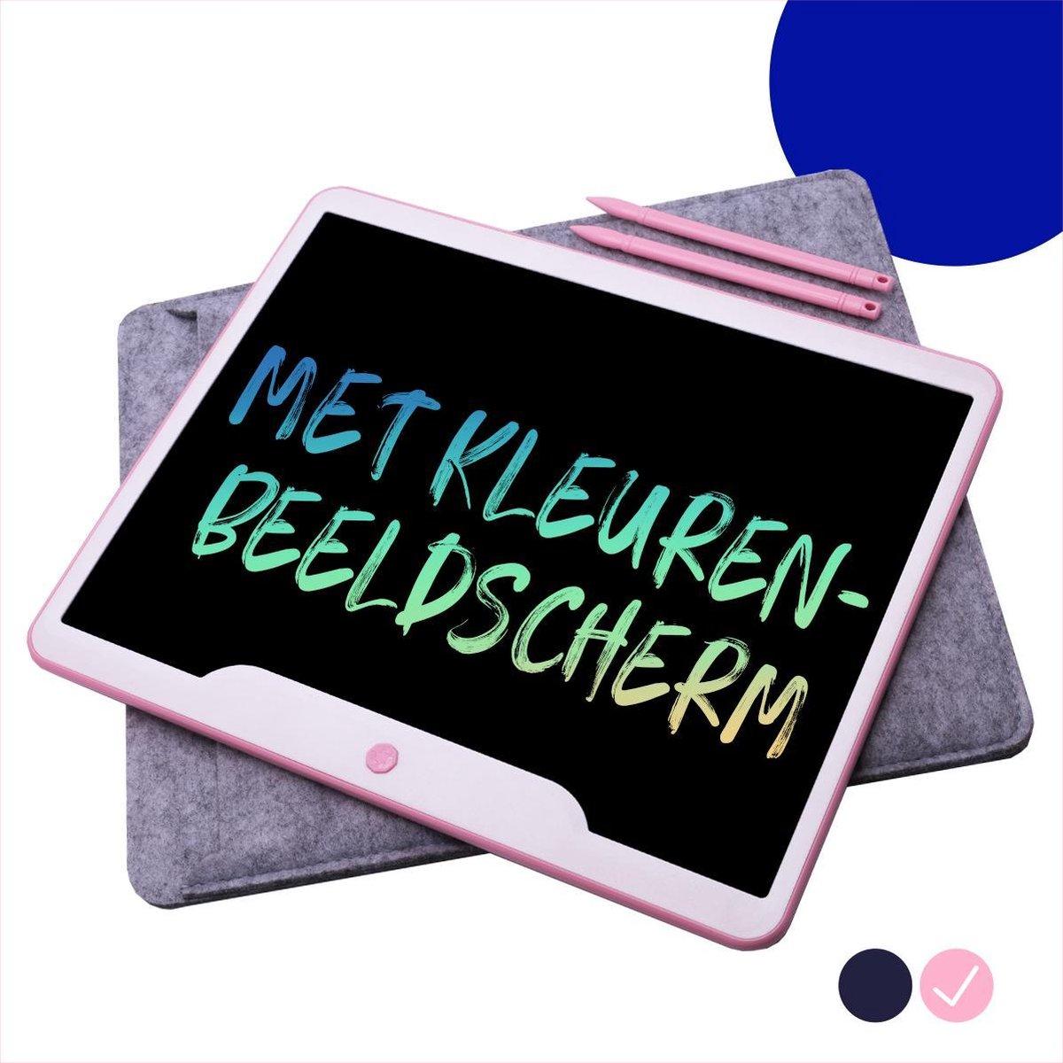 """LCD Tekentablet """"Roze"""" 15 inch - Kleurenscherm - Kids Tablet - Speelgoed Meisjes 8 jaar - Leren Tekenen"""