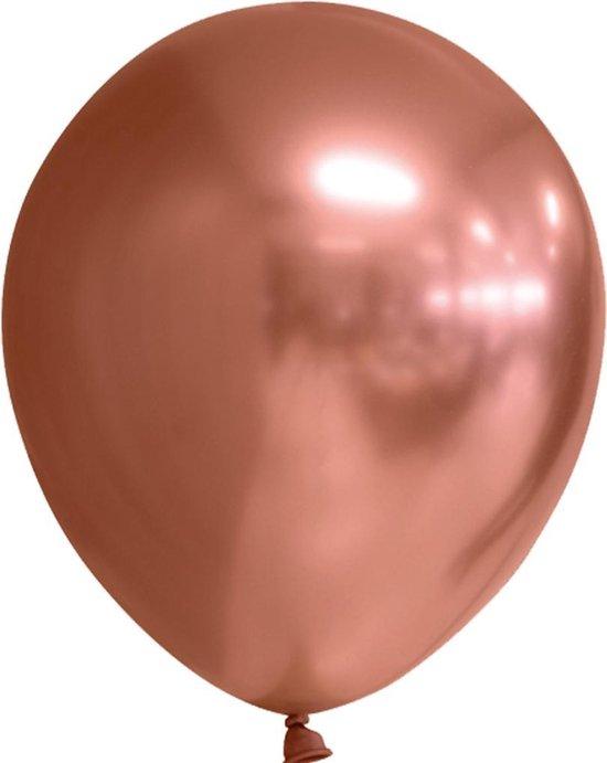 Chrome spiegel ballon koper