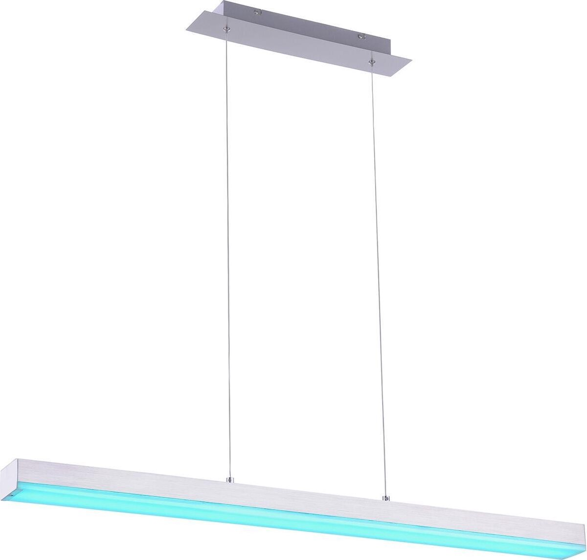 LED Hanglamp WiZ - Smart LED - Hangverlichting - Iona Lavar - 20W - Aanpasbare Kleur - RGBW - Rechthoek - Mat Nikkel - Aluminium