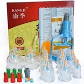 Kangji Cupping Set (16-Delig) - Cellulite Cups - Vacuüm Massage Cups - Massage Cups - Anti Cellulitis - Cupping Therapy - Anti Sinaasappelhuid - Cellulitis Behandeling - Cupping Cups