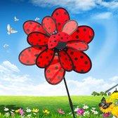 BrenLux - Windmolen – Lieveheersbeestjes windmolen – windmolen 50 cm hoog x 36 cm - Windmolen tuin - GRATIS kleine windmolen -Tuindecoratie - Windmolen op staander - Tuininrichting – Vrolijke windmolen – Tuindecoratie