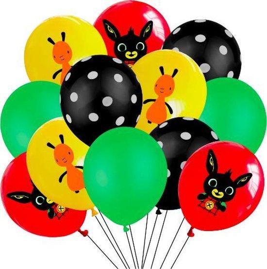ProductGoods - 12x Bing Ballonnen Verjaardag - Verjaardag Kinderen - Ballonnen - Ballonnen Verjaardag - Bing - Kinderfeestje