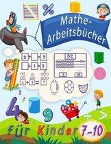 Mathe-Arbeitsbücher für Kinder 7-10: Zahlenverfolgung, Färbung, Addition, Subtraktion, Zeichen, Revision, aufsteigende, absteigende Reihenfolge, Merke