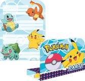 Pokémon Uitnodigingen 21,5x16cm 8 stuks