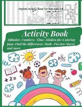 Inspired Activity Book For kids ages 3-8