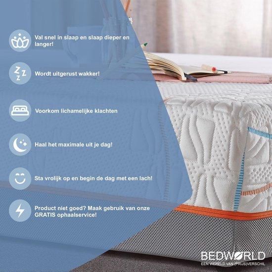 Bedworld Pocket Nasa - Matras - 140x200 - 20  cm matrasdikte medium ligcomfort - Merkloos