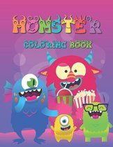 Monster Coloring Book: For Kids 4-8 Years