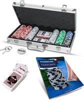 PRO® Pokerset 300|Inclusief Pokergids|Inclusief koffer|Poker Chips|Fiches|Speelkaarten|Black Jack