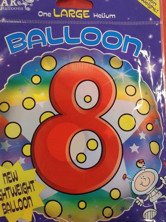 Ballon 8 jaar , 45cm Star